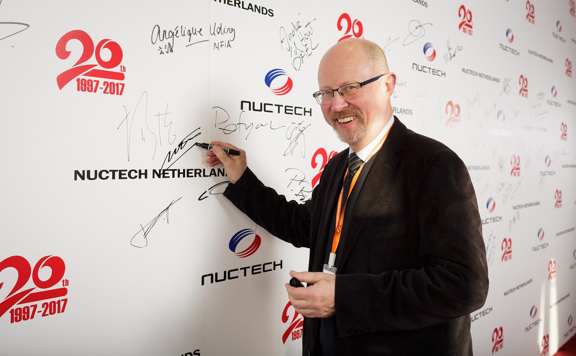 Vytautas Vitkauskas (Inta) at Nuctech 20 Anniversary